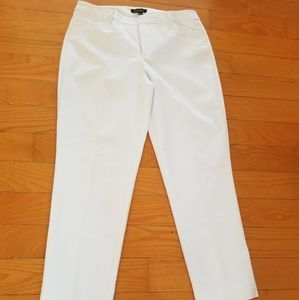Ankle pants white